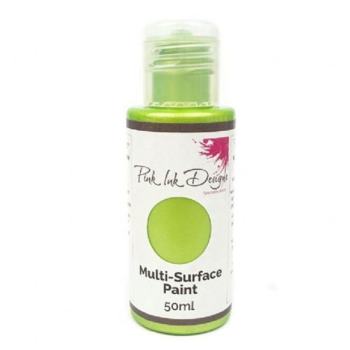 Pink Ink Multi Surface Paint Golden Lime Lustre 50ml